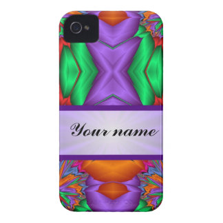 Purple multicolor abstract iPhone 4 Case-Mate case