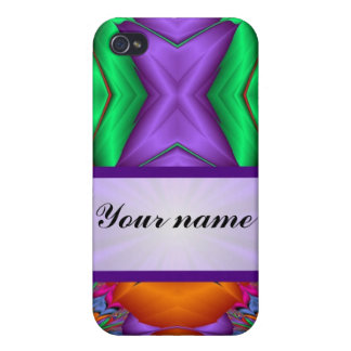Purple multicolor abstract iPhone 4 cases