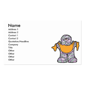 purple mummy with banner business card template