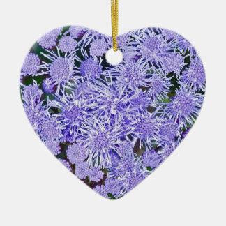 Purple Mums Ceramic Ornament
