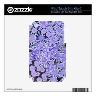 Purple Mums Decal For iPod Touch 4G