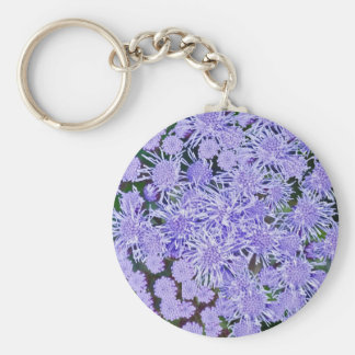 Purple Mums Keychain