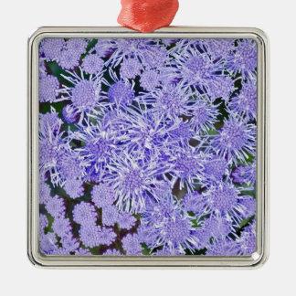 Purple Mums Metal Ornament