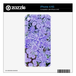 Purple Mums Skin For iPhone 4S