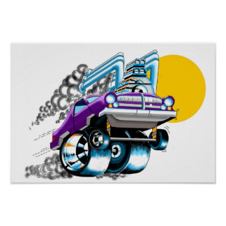 Purple Muscle  Car Poster