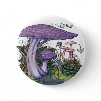 Purple mushroom button button