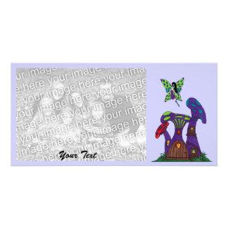 Purple Mushroom Houses photo card