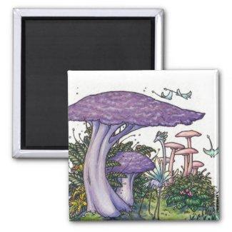 Purple mushroom magnet magnet