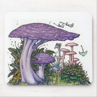 Purple mushroom mousepad mousepad