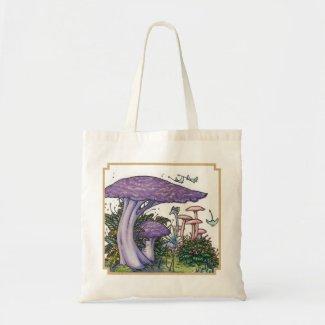Purple mushrooms bag bag