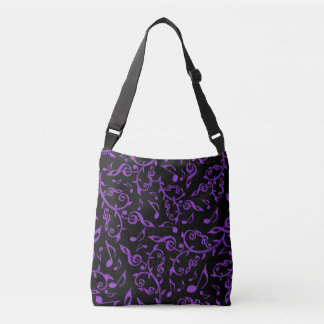 Purple Music Notes On Black Or Your Color Bag