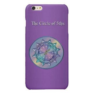 Purple Music Theory Circle of Fifths Mandala Case Glossy iPhone 6 Plus Case