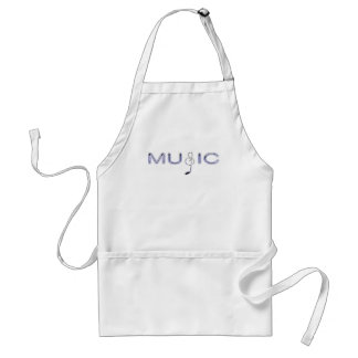 Purple Music with Note for Music Lovers Adult Apron