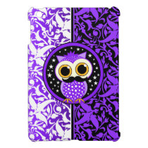 purple mustache owl case for the iPad mini