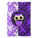 purple mustache owl iPad mini cases