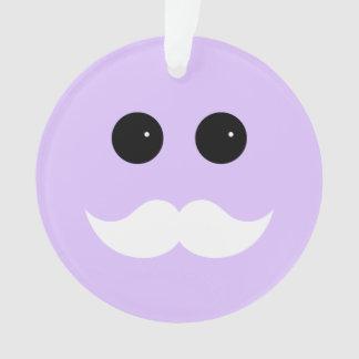 Purple Mustache Smiley Emoticon