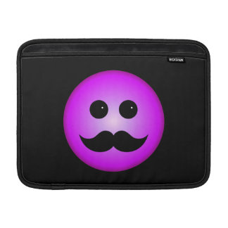 Purple Mustache Smiley Emoticon MacBook Air Sleeve