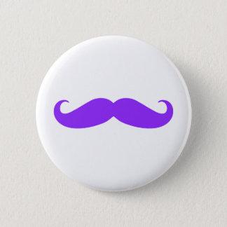 Purple Mustache Stache Button