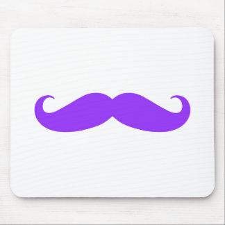 Purple Mustache Stache Mouse Pad