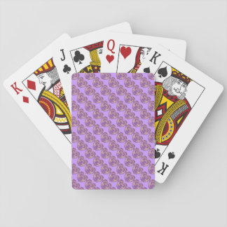 Purple N Gold Brocade Tiled Playing Cards