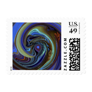 Purple N Gold Dream Catcher Abstract Stamp