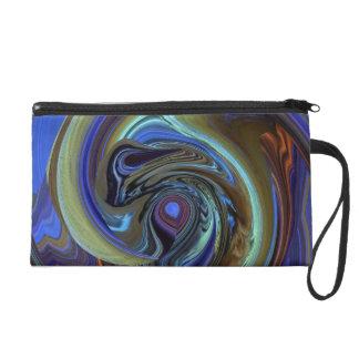 Purple N Gold Dream Catcher Abstract Wristlet Bag