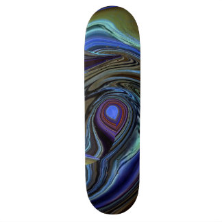Purple N Gold Feather Abstract Skateboard