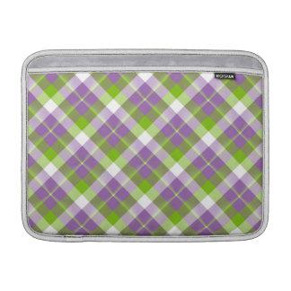 Purple n Green Plaid MacBook Air Sleeve