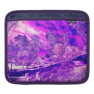 Purple N Pink Rural Landscape iPad Sleeve