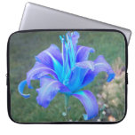 Purple N Turquiose Lily Laptop Sleeve