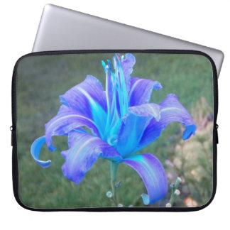 Purple N Turquiose Lily Laptop Sleeve