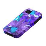 Purple N Turquoise Bouquet iPhone 4 Case