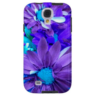 Purple N Turquoise Bouquet Samsung Galaxy S4 Case