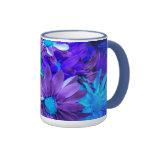Purple N Turquoise Daisies Bouquet Mug