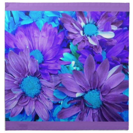 Purple N Turquoise Daisies Napkins