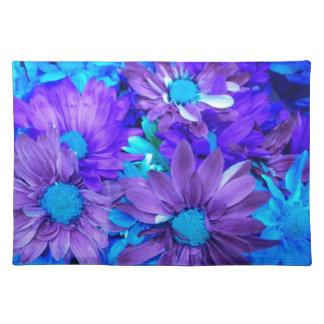 Purple N Turquoise Daisy Bouquet Placemat Cloth Place Mat