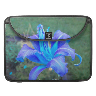 Purple N Turquoise Daylily Macbook Sleeve Sleeve For MacBooks
