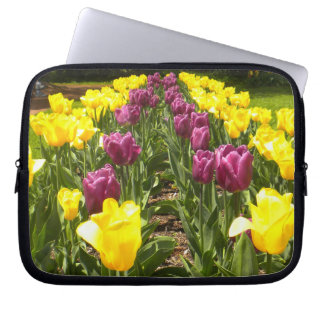 Purple N Yellow Tulips Laptop Sleeve