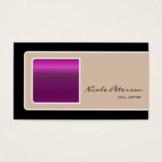 purple nail business card
