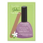 Purple Nail Polish Birthday Invite