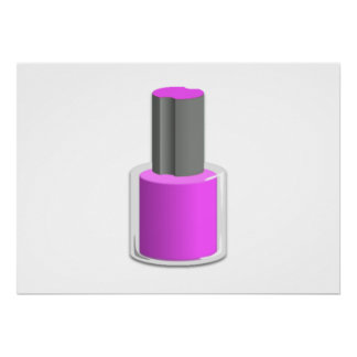 Purple Nail Polish Poster