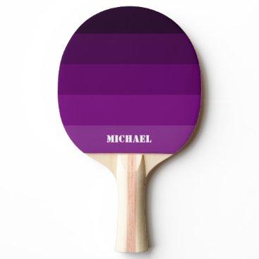 Purple Name Black Ping Pong Paddle