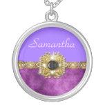 Purple name girls jewelry