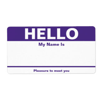 Purple Name Tag - Avery Label