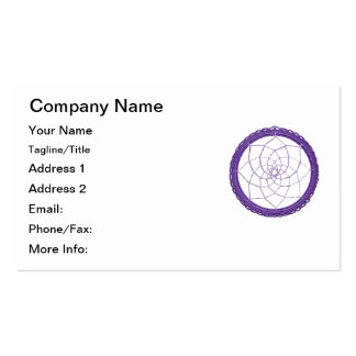 Purple Native American Dream Catcher Double-Sided Standard Business Cards (Pack Of 100)