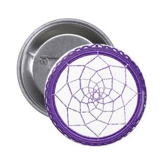 Purple Native American Dream Catcher Button