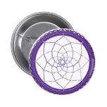 Purple Native American Dream Catcher Buttons