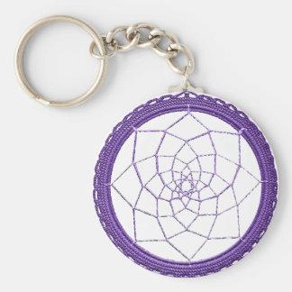 Purple Native American Dream Catcher Keychain