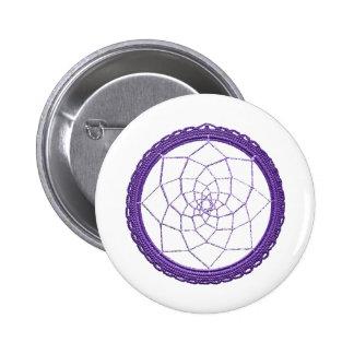 Purple Native American Dream Catcher Pinback Button
