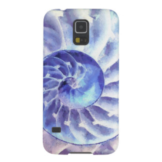 Purple Nautilus Art Galaxy S5 Case